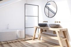 Modern bathroom corner