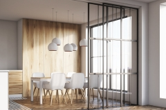 Light wooden dining room side
