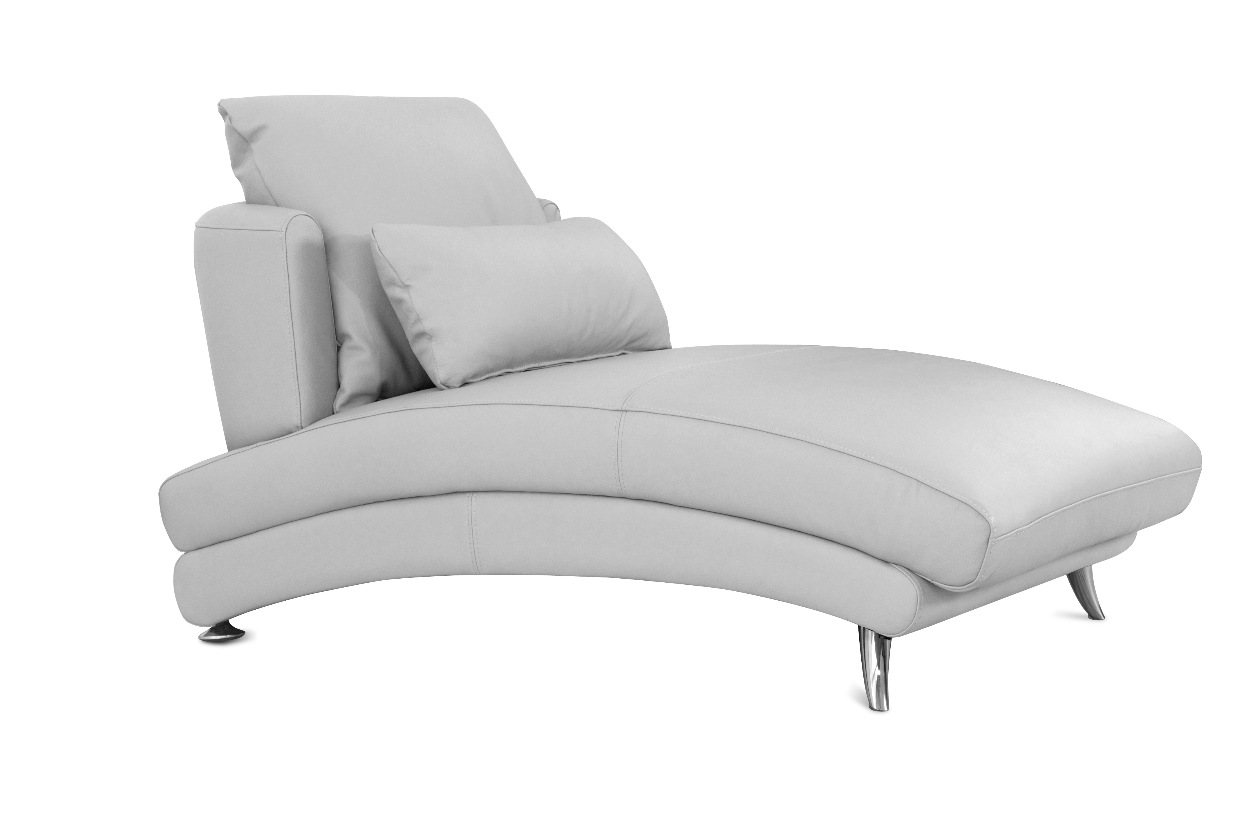 White Armchair with leg extension