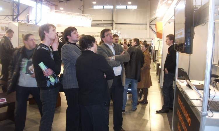 At exhibition in Lithuania 2012