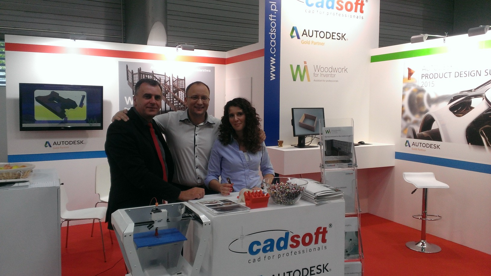 At exhibition in Poland